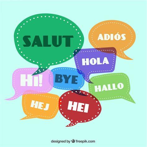 imagenes de hola en italiano saludos en diferentes idiomas descargar vectores gratis