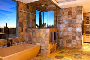 Bathtub With Shower Enclosure Relaxing Country Rustic Bathroom By Lori Carroll