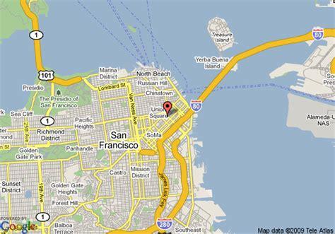 san francisco map hotels st regis hotel san francisco san francisco deals see