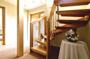modern open staircase to basement modern open basement stairs with wooden fence and metal