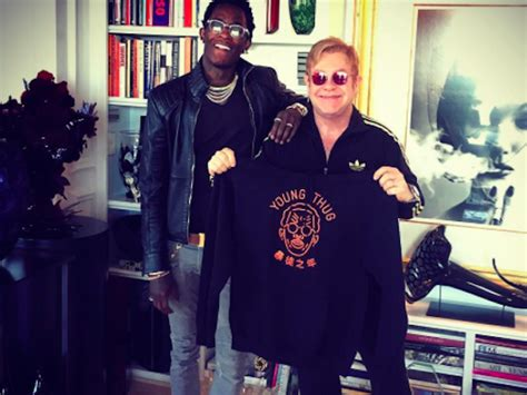 elton john young thug after co signing thugger elton john meets up w young