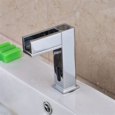 hands free bathroom faucets manoa handsfree led bathroom sink faucet with motion