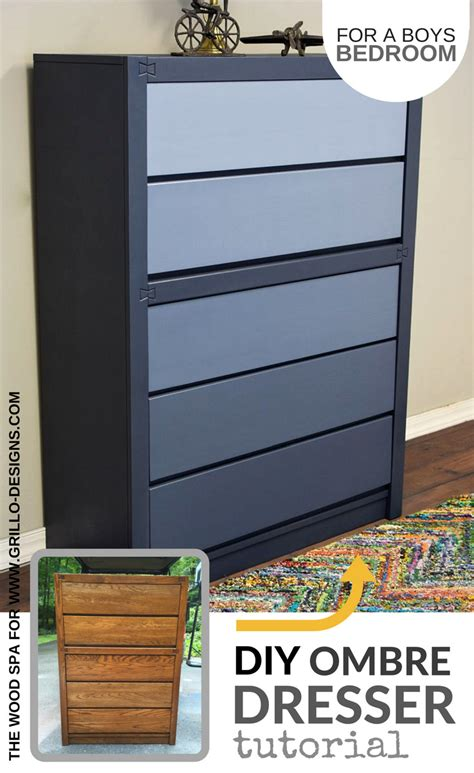 Diy Ombre Dresser by Diy Blue Ombre Dresser Tutorial For A Boys Bedroom