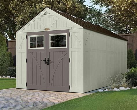 suncast  tremont  apex roof shed  shed