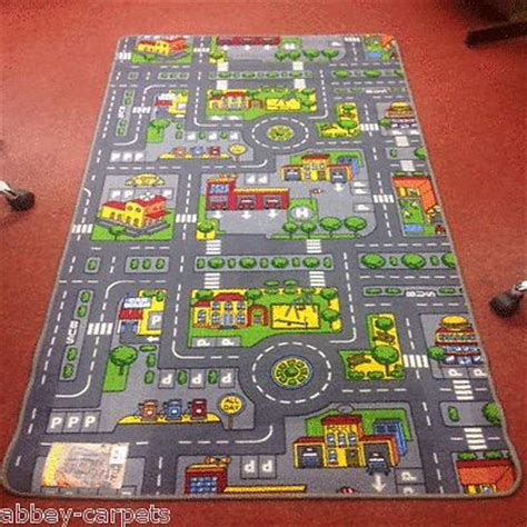 Car Play Mat Rug by Children S Road Rug Play Mat Car Roadway Large