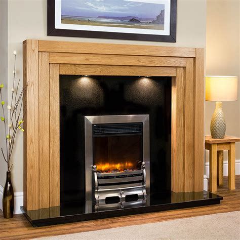 Oak Electric Fireplace Stamford Solid Oak Electric Fireplace Package Oakfiresurrounds Co Uk