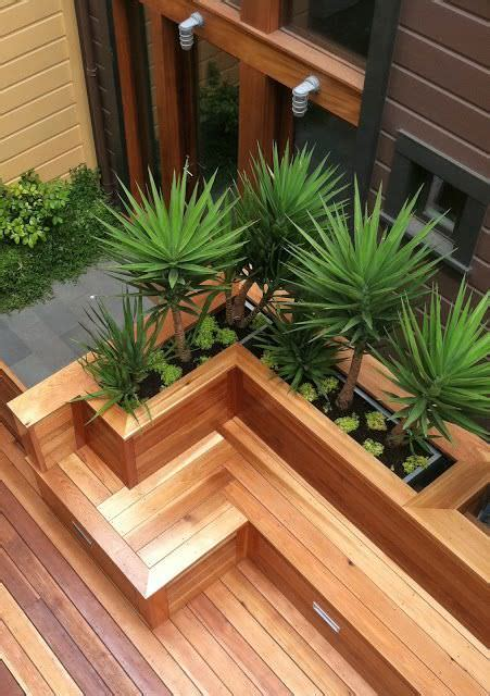 Built In Deck Planter Boxes by Built In Planter Ideas The Garden Glove