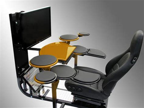 Desk Drum Kit by 17 More Outrageous Drum Kits From The Tech News