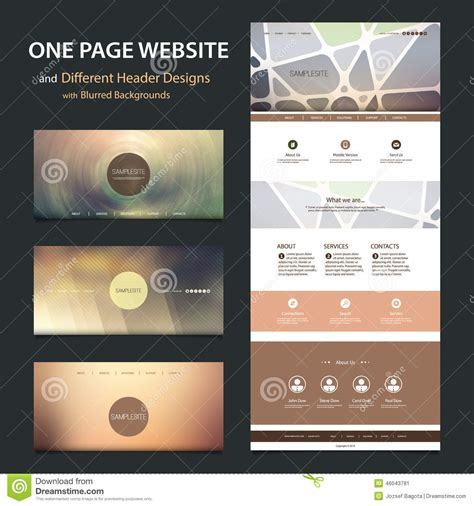 header design for website in html one page website template and different header designs