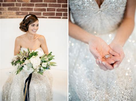 Sparkly, Modern New Year's Eve Wedding Inspiration   Green