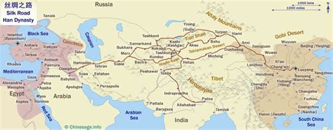 silk road map silk road to china