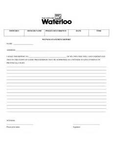 Witness Form Template by Best Photos Of Witness Form Template Witness Statement