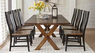 Rooms To Go Dining Sets Lakes Brown 5 Pc 84 In Rectangle Dining Room Dining Room Sets Wood