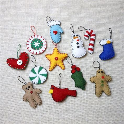 wool felt christmas ornaments christmas pinterest