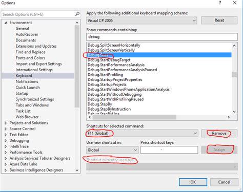 reset visual studio keyboard settings change visual studio debugging shortcut keys ocim agc