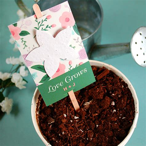Wedding Favors Flower Seeds by Wildflower Planting Stick Wedding Favors Plantable Seed