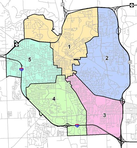 houston map by wards damn arbor vote today