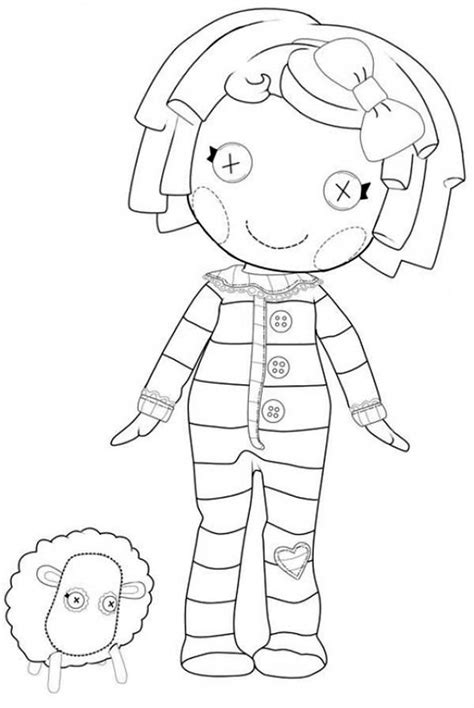 lalaloopsy halloween coloring pages pillow featherbed from lalaloopsy coloring page color luna