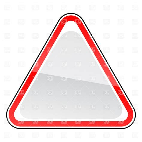 triangle blank road sign template vector image 12944