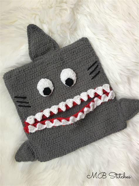 crochet pajama bag pattern crochet shark pajama eater pillow mb stitches