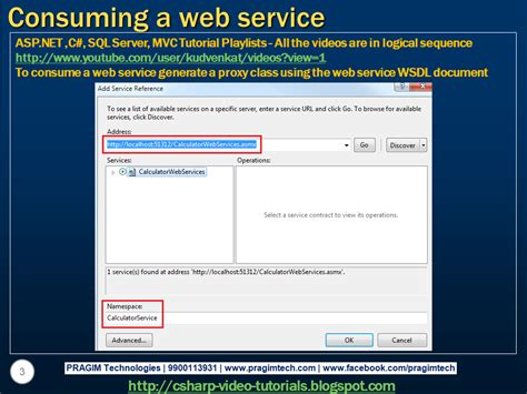 tutorial web services net sql server net and c video tutorial part 2 consuming