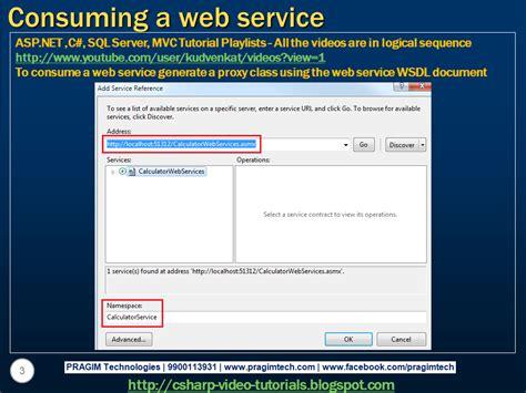 tutorial net web service sql server net and c video tutorial part 2 consuming