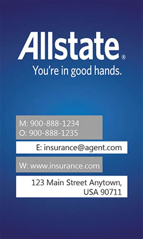 allstate insurance card template insurance business card allstate agents card designs