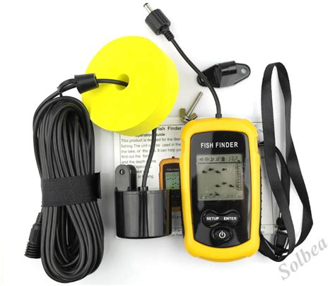 Finder Free 1pc Portable Lcd Fish Finder Depth Sonar Sounder Alarm Transducer Fishfinder 100m