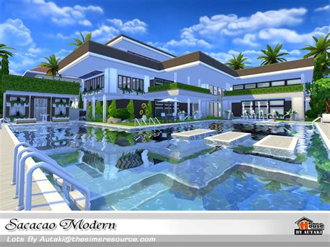 home design no download sacacao modern house by autaki at tsr 187 sims 4 updates