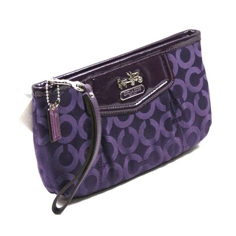 Clutch Purple coach opt large wristlet clutch purple 43263
