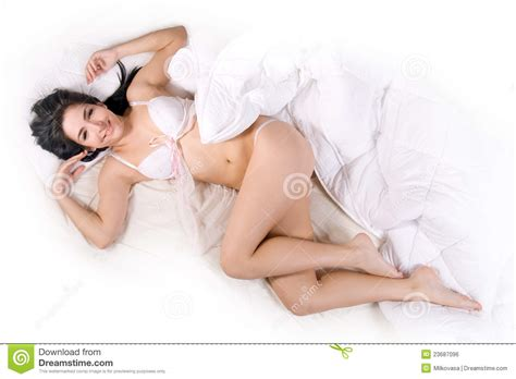 girl in bed girl sleep in bed royalty free stock image image 23687096
