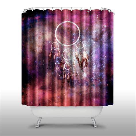 peri shower curtain pink peri dream catcher galaxy universe 70 x70 shower