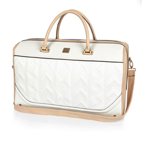 A Weekend Bag For The by Lyst River Island White Embroidered Weekend Bag In