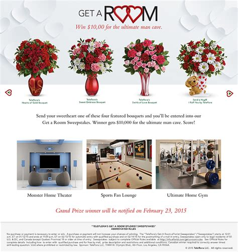 get a room reviews get a room sweepstakes by teleflora
