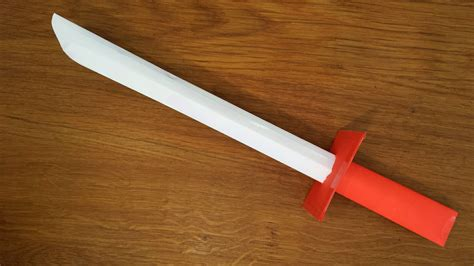 How To Make A Sword Out Of Paper - how to make a paper samurai sword easy tutorial