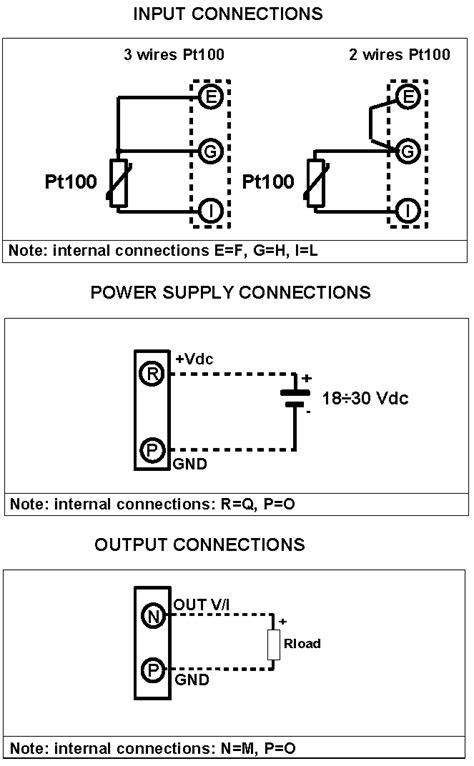 Pt100 Temperature converter DIN Rail Mount DAT2165