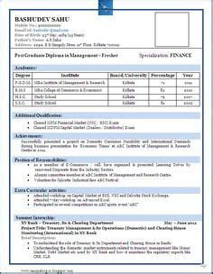 Dubai Mba Freshers by Simple Resume Format For Freshers In Word File 137085913