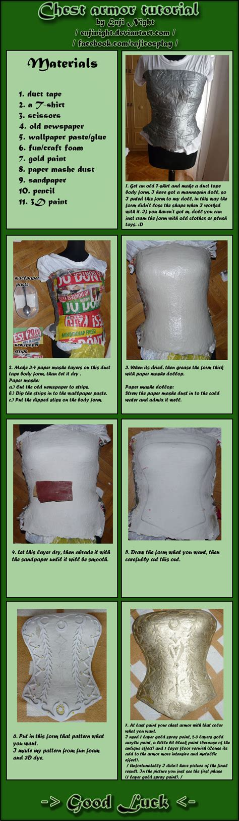 How To Make Paper Mache Armor - chest armor tutorial by enjinight on deviantart