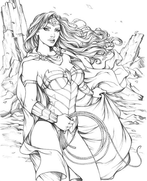 dc super women coloring pages