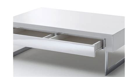 Hochglanz Tisch Weiss by Couchtisch Cooper Beistelltisch Tisch Wei 223 Hochglanz 110 Cm