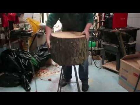 lampara sacada de tronco de madera youtube