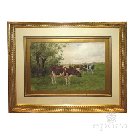 Drop Leaf Dining Room Table by A Serene Dutch Landscape Watercolor Painting Of Three Cows