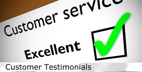 view our customer testimonials and pictures to get customer testimonials