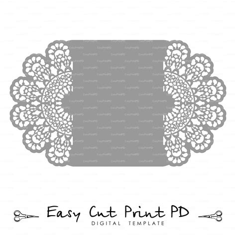 lace templates card lace crochet doily wedding invitation 5x7 quot rustic pattern