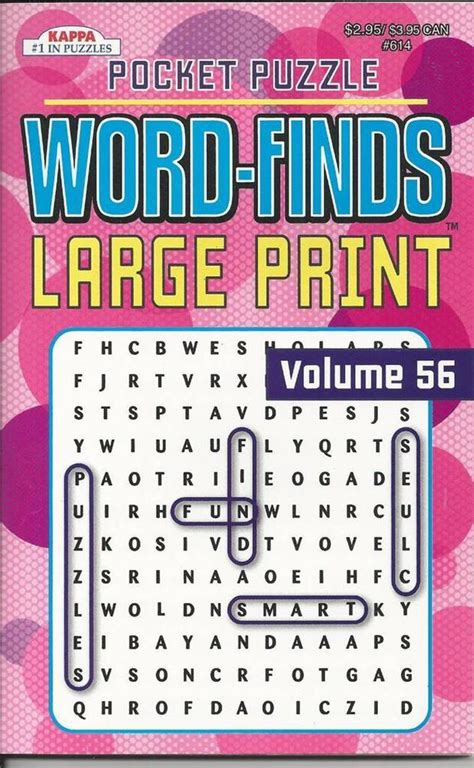 picture search books kappa pocket puzzle large print wordsearch word finds