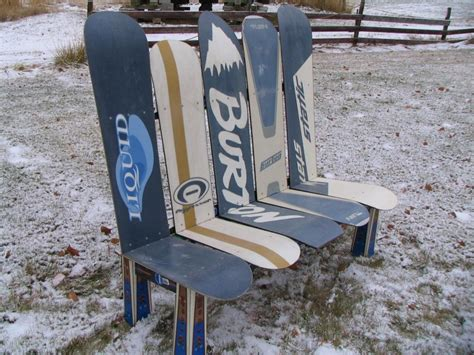 bench made of skis custom made snowboard bench custom made furniture ski