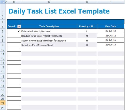 5 Task List Templates Formats Exles In Word Excel Task List Template