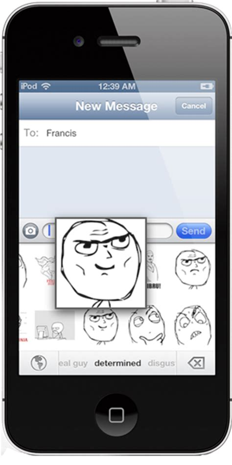 Meme Keyboard Iphone - how to add memes rage faces to the native keyboard on