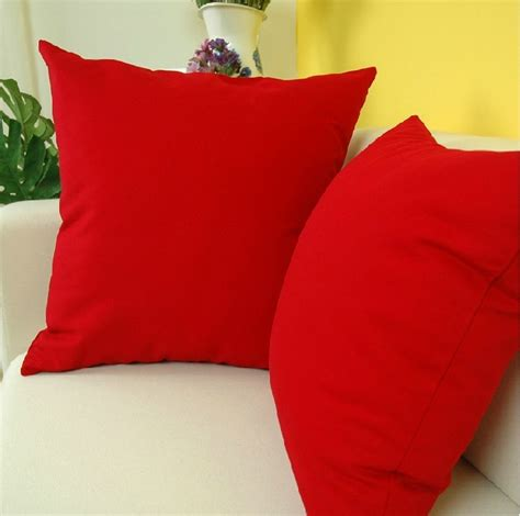 throw pillows for red couch high quality cotton simple style pure red throw pillows
