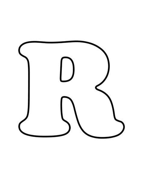 Letter R   Free Printable Coloring Pages